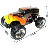 HOT ROD 1:10 SCALE ELECTRIC RADIO CONTROLLED 4WD MONSTER TRUCK